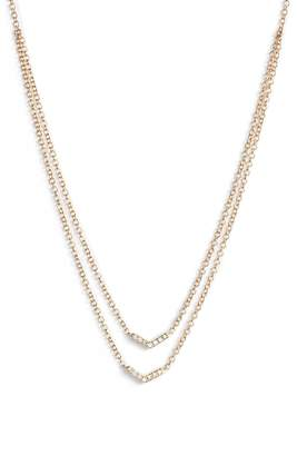 Ef Collection Double Row Chevron Diamond Necklace