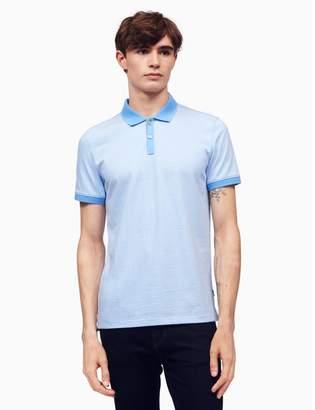 Calvin Klein slim fit feeder stripe polo shirt