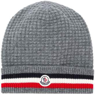 Moncler striped knit cap