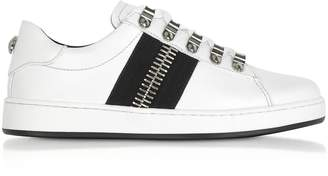 Balmain Esther White Leather Low-Top Sneakers