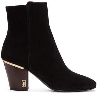 Marc Jacobs Women's Embellished Chain Suede Block Heel Booties zoKQXdqeGV
