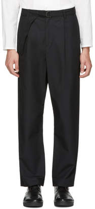 Undecorated Man Black Wide Straight Trousers