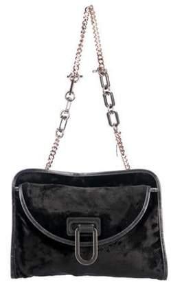 Stella McCartney Velvet Shoulder Bag Grey Velvet Shoulder Bag