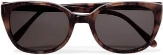Prism Square-frame Tortoiseshell-print Acetate Sunglasses