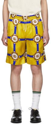 Gucci Yellow GG Marmont Shorts