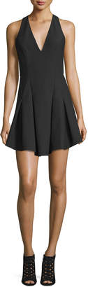 Elizabeth and James Sabine Sleeveless Crepe Fit-and-Flare Dress, Black