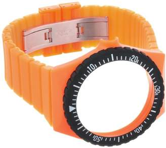 Fortis Colors C 20 24 mm Orange Silicone Watch Strap