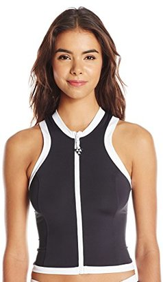 Seafolly Women's Block Party Sleeveless Vest Rashguard $30.79 thestylecure.com