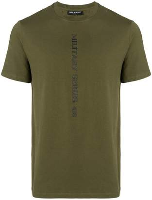 Neil Barrett military series stamped T-shirt