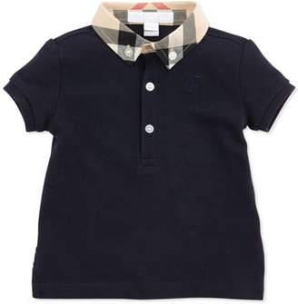 Burberry Mini Pique Polo Shirt, Navy