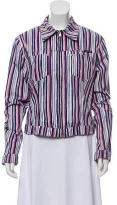 Dolce & Gabbana Striped Collared Jacket