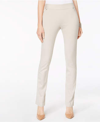 INC International Concepts I.n.c. Curvy Pull-On Straight-Leg Pants