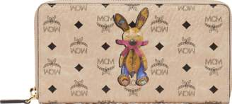 MCM Rabbit Zip Around Wallet In Visetos