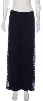 Valentino Embellished Wide-Leg Pants