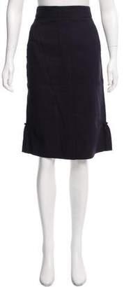 Nina Ricci Ruffle-Trimmed Knee-Length Skirt