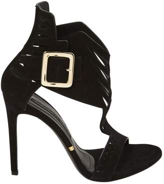 Gianmarco Lorenzi Black Suede Sandals