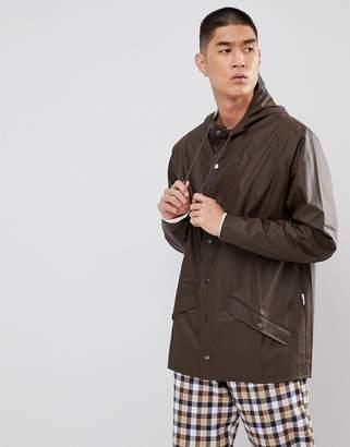 Rains Short Waterproof Jacket in Brown