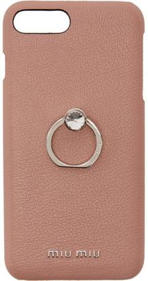 Miu Miu Pink Madras Ring iPhone 8 Plus Case