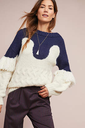 Child of the Universe NYC Fringed Comber Sweater
