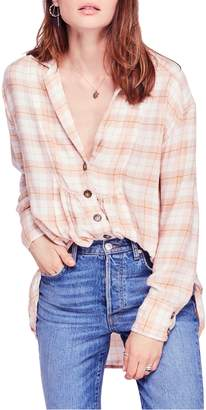 Free People All about the Feels Plaid Shirt