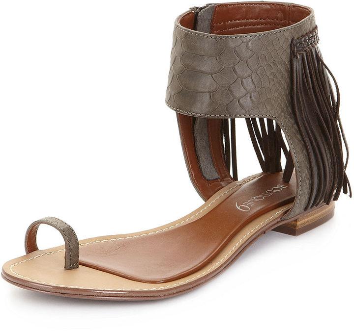 Boutique 9 Shoes, Baste Fringe Flat Sandals