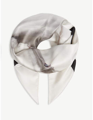 Burberry Unicorn silk square scarf