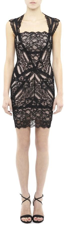 Nicole Miller Eva Black Lace Dress