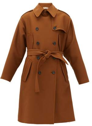 No.21 No. 21 - Frayed Hem Oversized Trench Coat - Womens - Brown