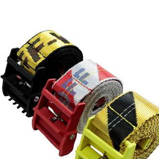 Off-White off white canvas INDUSTRIAL belt red yellow with black buckle unisex waist belts