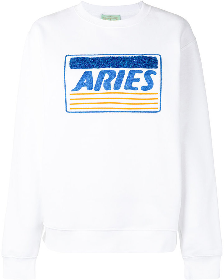 Aries - 'Aries' embroidery sweatshirt - women - Cotton/Polyester - 3