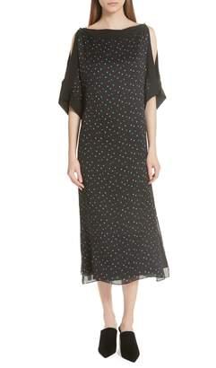 Jason Wu GREY Cold Shoulder Silk Dress
