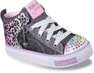 Skechers Twinkle Toes Shuffles Journey Jumpz Toddler & Youth Light-Up Sneaker -Black/Pink - Girl's