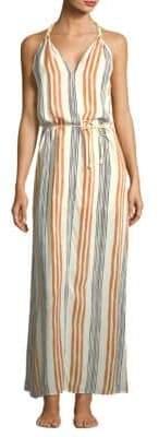 Hermanny ViX by Paula Striped Maxi Dress