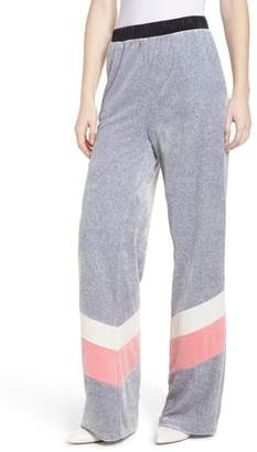 Juicy Couture Colorblock Velour Wide Leg Pants