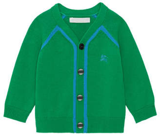 Burberry Sedrick Two-Tone Button-Front Cardigan, Size 12M-2