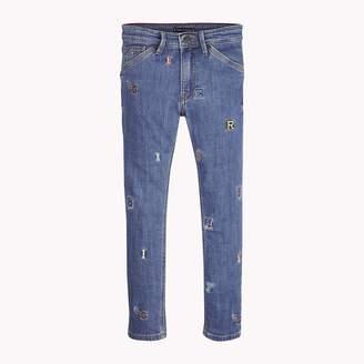 9c11b215 Tommy Hilfiger TH Kids Straight Fit Letter Jean
