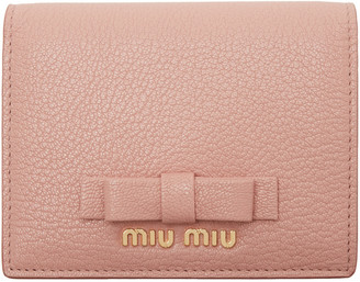 Miu Miu Pink Leather Bow Wallet $295 thestylecure.com
