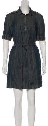 Burberry Mini Denim Shirtdress