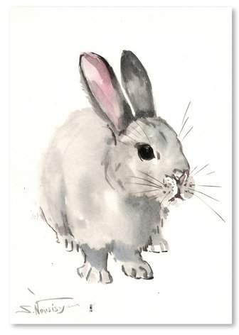 East Urban Home 'Bunny 3' Painting Print