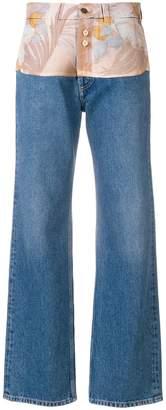 Maison Margiela contrast panel straight leg jeans