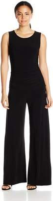 Norma Kamali Women's Sleeveless Shirred Waist Jumpsuit