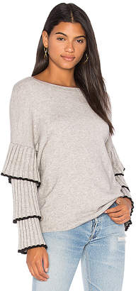 Central Park West Bourbon Street Ruffle Sleeve Sweater