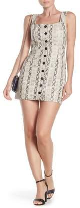 Wild Honey Snakeskin Print Faux Leather Mini Dress