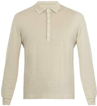 Massimo Alba Long-sleeved linen-jersey polo shirt
