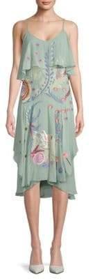Temperley London Chimera Ruffle Silk Dress