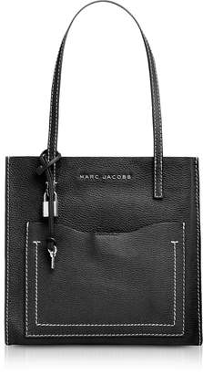 Marc Jacobs Black and Dark Cherry The Medium Grind T Pocket Tote