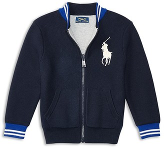 Ralph Lauren Childrenswear Boys' Reversible Mesh Baseball Cardigan - Sizes 2-7 $95 thestylecure.com