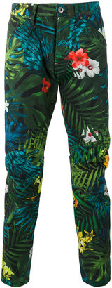 G-Star floral print trousers $128.18 thestylecure.com