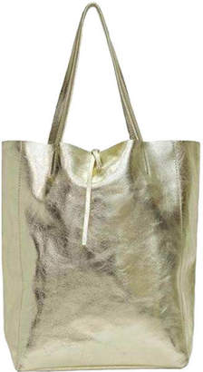 Brix And Bailey Metallic Leather Shopper Tote Bag - 5 cols