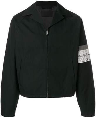 Prada patch sleeve zipped jacket